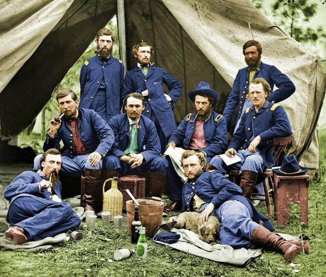 Union Soldiers taking a break 1863
