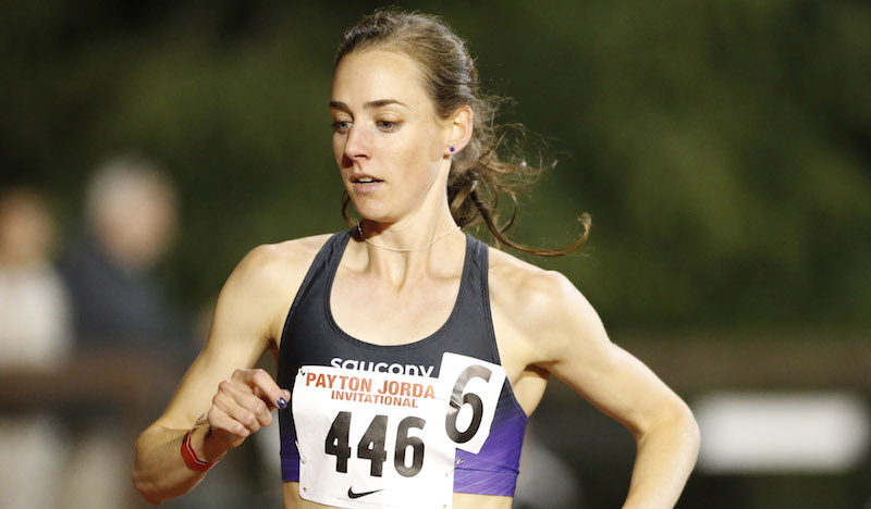 May 4, 2014; Stanford, CA, USA; Molly Huddle places second in the womens 10,000n in 30:47.59 in the 2014 Payton Jordan Invitational at Cobb Track & Angell Field. Photo by Spencer Allen
